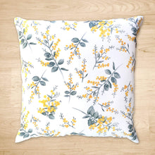 Load image into Gallery viewer, Silver Wattle Cushion Cover Cotton Drill Silken Twine Cushion Cover