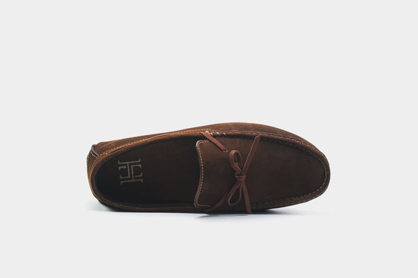 Brown Lace-up Loafers