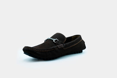 Nobuck Brown Hardware Moccasin