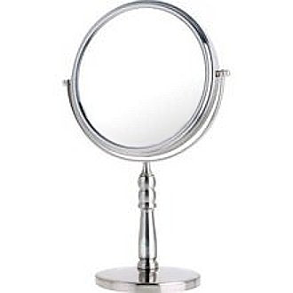 Danielle Creations 10x/1x Satin Nickel Vanity Mirror is Modern Looking and Reversible
