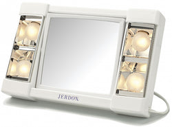 Jerdon Lighted 3x/1x Home and Travel Make Up Mirror