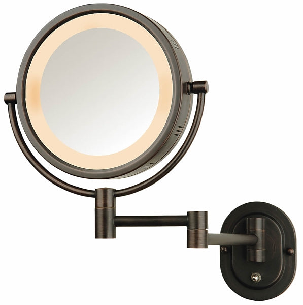 Jerdon 5x/1x Reversible Hardwired Makeup Mirror- 4 Finishes