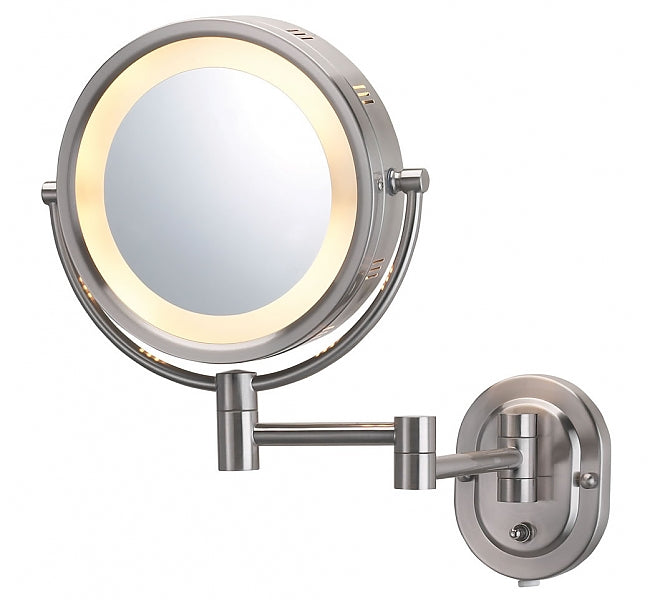 Jerdon Style 5x/1x Reversible Hardwired Makeup Mirror- 3 Finishes