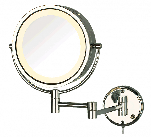 Jerdon Style 8x/1x Reversible Plug-In Makeup Mirror - 4 Finishes