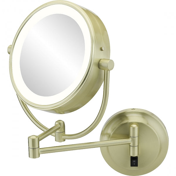 Kimball & Young 3,500k - 5,500k Hardwired LED Vanity 5x/1x Magnifying Mirror, 4 Finishes