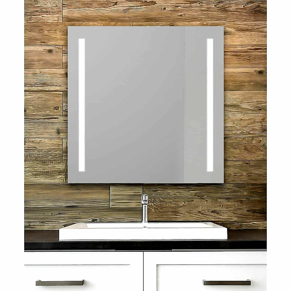 Cordova Charisma Backlit Natural-Light LED Mirror with 1-inch Frosted Vertical Bands - 4 Sizes