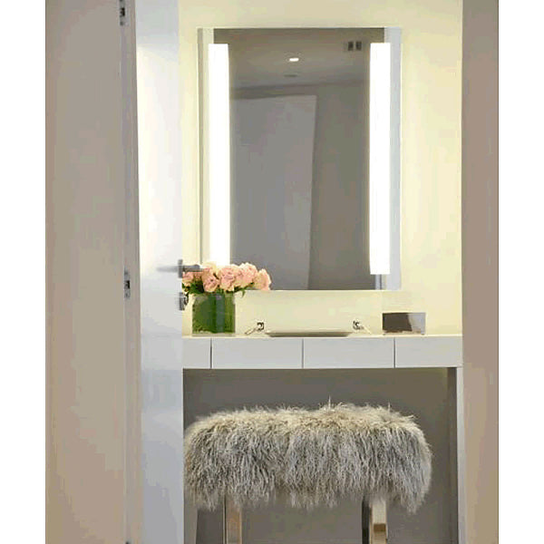 Electric Mirror Fusion +AVA Backlit Adjustable-Light LED Mirror with Clean, Strong Lines - 5 Sizes