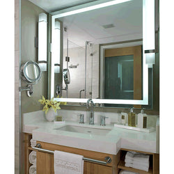 Electric Mirror Integrity Natural-Light LED Mirror with Backlit Brilliant Border, 10 Sizes