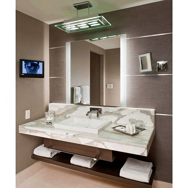 Electric Mirror Novo Natural-Light Backlit LED Mirror with 3-Inch Side Border Illumination, 3 Sizes