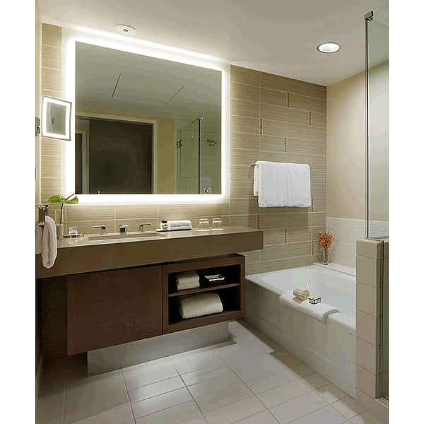 Electric Mirror Silhouette LED Brightly Back-Lighted Mirror Appears Free Floating - 8 Sizes