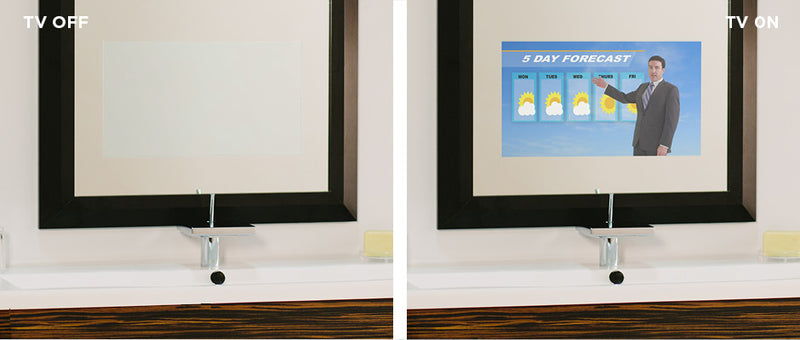 "Electric Mirror Fusion TV Lighted Mirror with 15.6"" HDTV. It ""Disappears"" When Turned Off - 3 sizes"