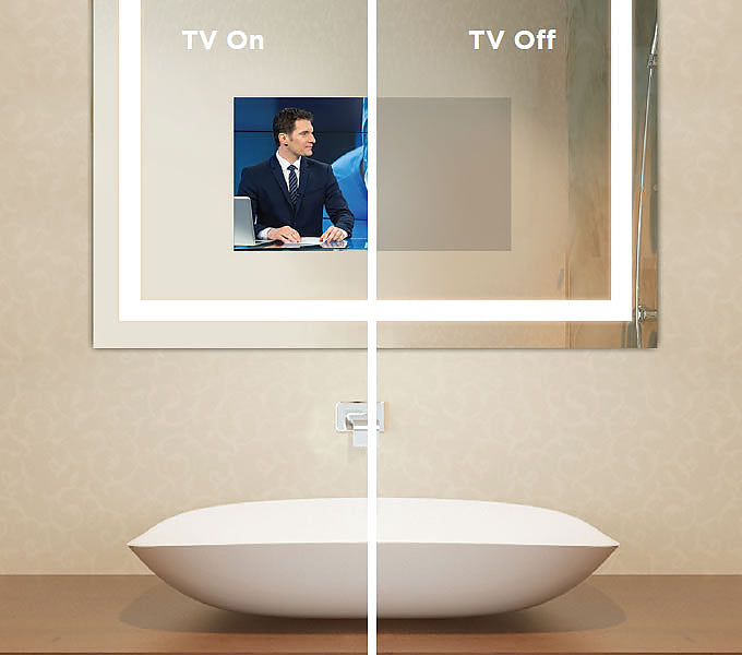 "Electric Mirror Fusion TV Lighted Mirror with 21.5"" HDTV. It ""Disappears"" When Turned Off - 3 sizes"