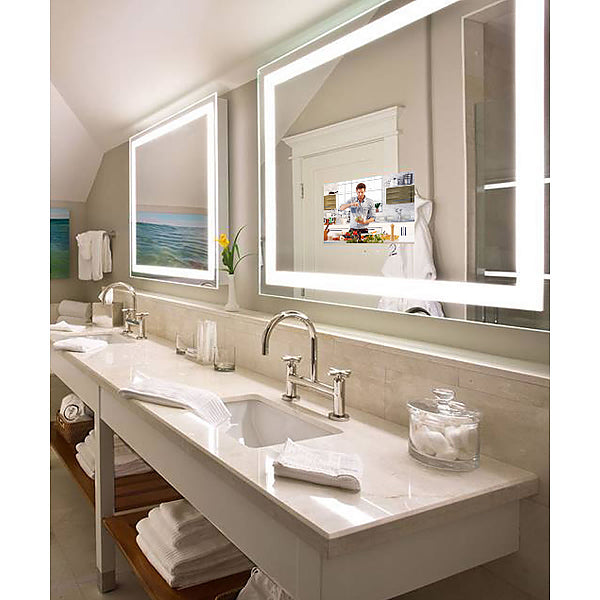 "Electric Mirror Integrity TV Lighted Mirror with 15.6"" HDTV that ""Disappears"" When Off, 6 sizes"