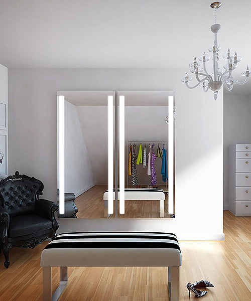 Electric Mirror Fusion Wardrobe Mirror +AVA Technology LED for Adjustable Environmental Color Tuning