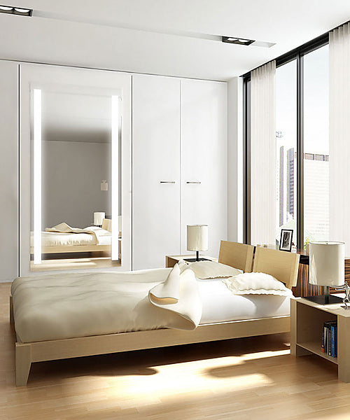 Electric Mirror Fusion Wardrobe Mirror has Full-Length Natural LED Lighting