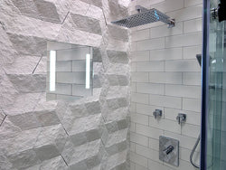 Clear Mirror Fog Free Permanent Shower Mirrors Mounted Within The Sile Surround Are Electrically Heated Reflect Perfection