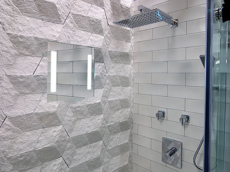 ClearMirror LED Lighted, Heated Fog-Free Shower Mirror - Total Luxury in the Shower