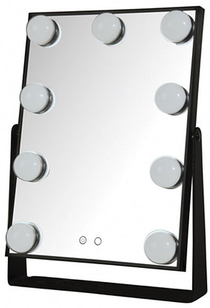 Jerdon Hollywood Style Makeup Mirror with Mirror-Face Controls