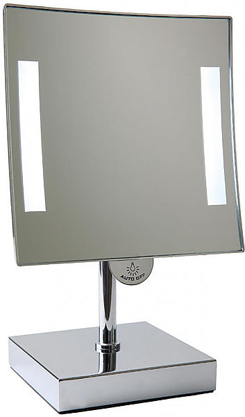 JVD Galaxy Countertop 3x LED Vanity Mirror Lighted at Both Edges - Lithium Ion Battery Powered