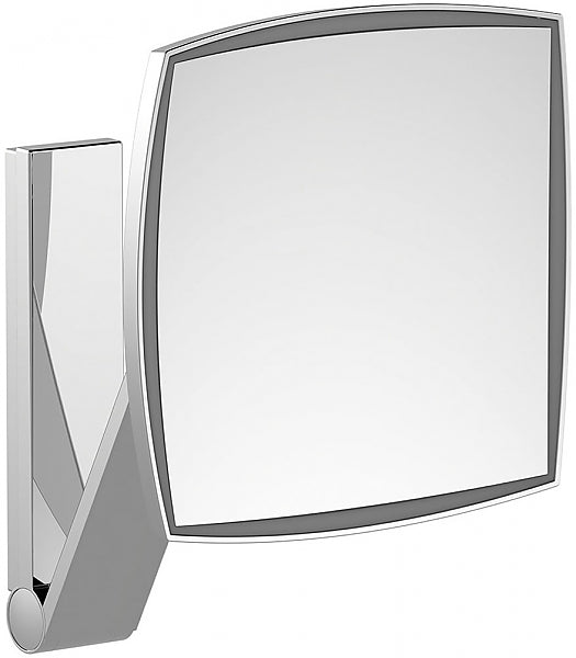 KEUCO 5x Hardwired Square 6,000k (Whie Daylight) LED Cosmetic Mirror