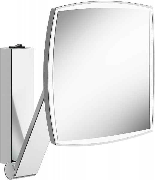 KEUCO Square 5x Hardwired 6,500k (Bright Whie Daylight) LED Cosmetic Mirror with Rocker Switch