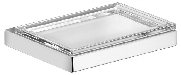 Keuco Edition 11 Soap Dish with Crystal Insert for Counter or Wall-Mount, 3 Finishes