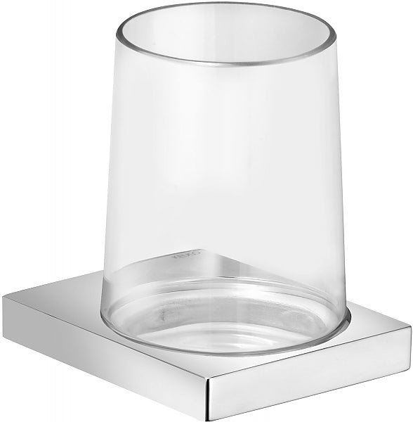 Keuco Edition 11 Tumbler Holder and Crystal Tumbler for Wall-Mounting, 3 Finishes