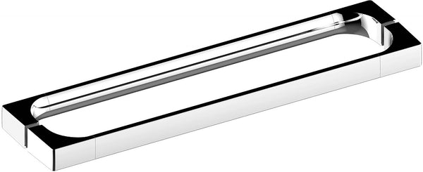 "Keuco Edition 11 Shower Door Handle - 20-1/2"", with Backing Plates, Polished Chrome"
