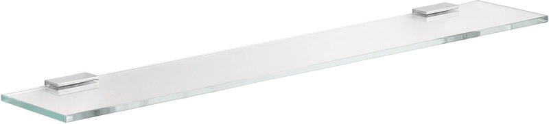 Keuco Collection Moll Crystalline Glass Shelf with Polished Chrome Brackets, 3 Sizes