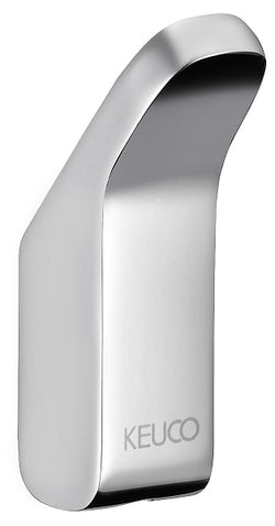 Keuco Collection Moll Crystalline Towel Hooks - Single and Double, Polished Chrome