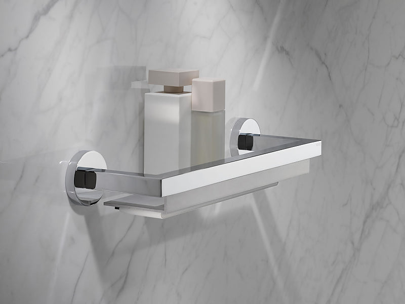Keuco Edition 90 Shower Shelves - Plain or with Built-In Magnetic Squeegee