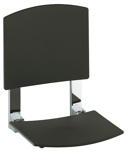 Keuco Plan Care Wall-Mounted Tip-Up Seat with Back Rest - 3 Finishes