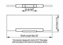 Keuco Plan Glass Shelf and Shelf Brackets