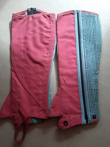 Gallop Adult Chaps - Large - Pink/Blue Storage Marks