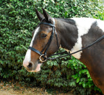 Leather Hunter Bridle With Wide Cavesson Noseband
