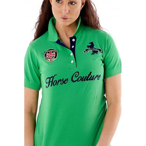 Horse Couture Milan Large Logo Polo Shirt - Green