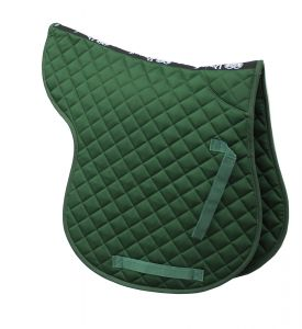 Cotton Quilted GP Numnah - Hunter Green