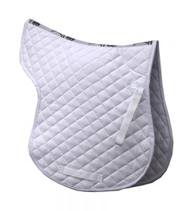Cotton Quilted GP Numnah - White
