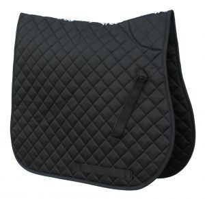 Cotton Quilted Saddle Cloth-Black