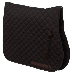 Cotton Quilted Saddle Cloth-Brown