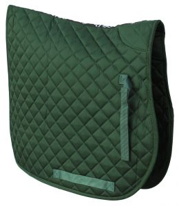 Cotton Quilted Saddle Cloth-Green