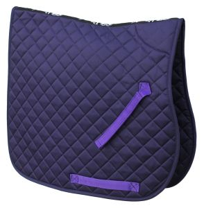 Cotton Quilted Saddle Cloth- Purple