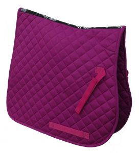 Cotton Quilted Saddle Cloth- Pink