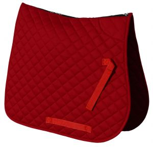 Cotton Quilted Saddle Cloth- Red