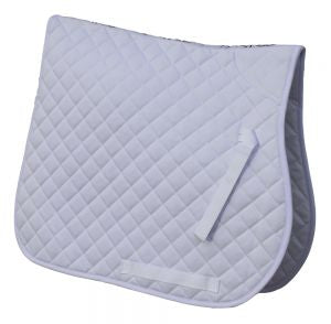 Cotton Quilted Saddle Cloth-White