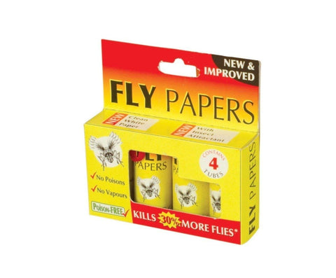 The Buzz STV015 Fly Papers for Pest Control (Pack of 4)