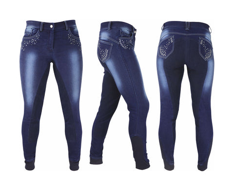Hy Performnace Denim With Cystal Breeches