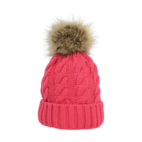 Melrose Cable Knit Bobble Hat