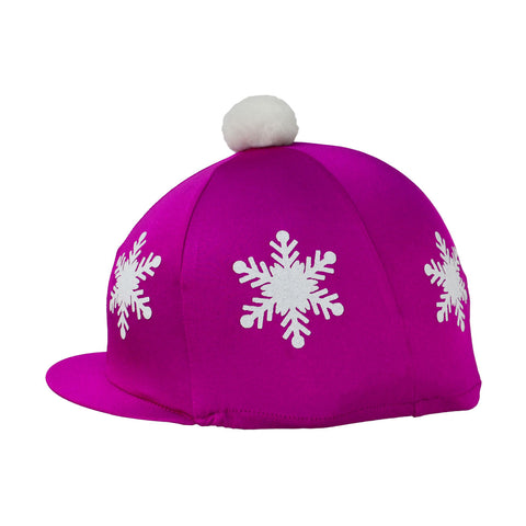Snowflake with Pom Pom Hat Cover