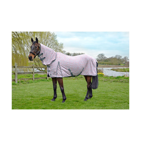HY Mesh Combo Neck Fly Rug With Buttrfly Design